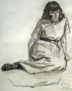 hans-pape-sitzende-frau-galerie