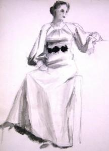 unbekannt-sitzende-dame-in-langem-kleid