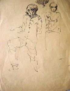 kurt-ruebner-zugeschrieben-beidseitige-zeichnung-1