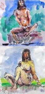 Rudolf Scheibe: Zwei sitzende Akte