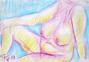 rudolf-scheibe-sitzender-weiblicher-akt-mit-angewinkeltem-rechtem-bein