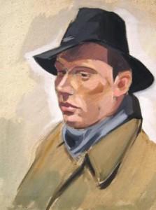 erich-wessel-dreiviertelporträt-eines-mannes-mit-hut-galerie