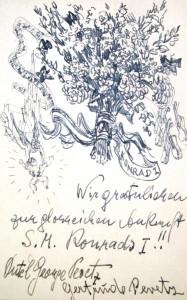 Georg Pevetz: Glückwunschkarte