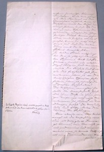 Dokument aus dem Infanterie-Regiment Graf Dönhoff (7. Ostpreußisches)