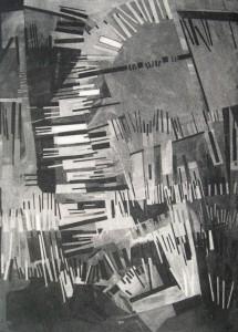 Ingo Kraft: Abstrakt konstruktive Komposition aus Balken und Linien