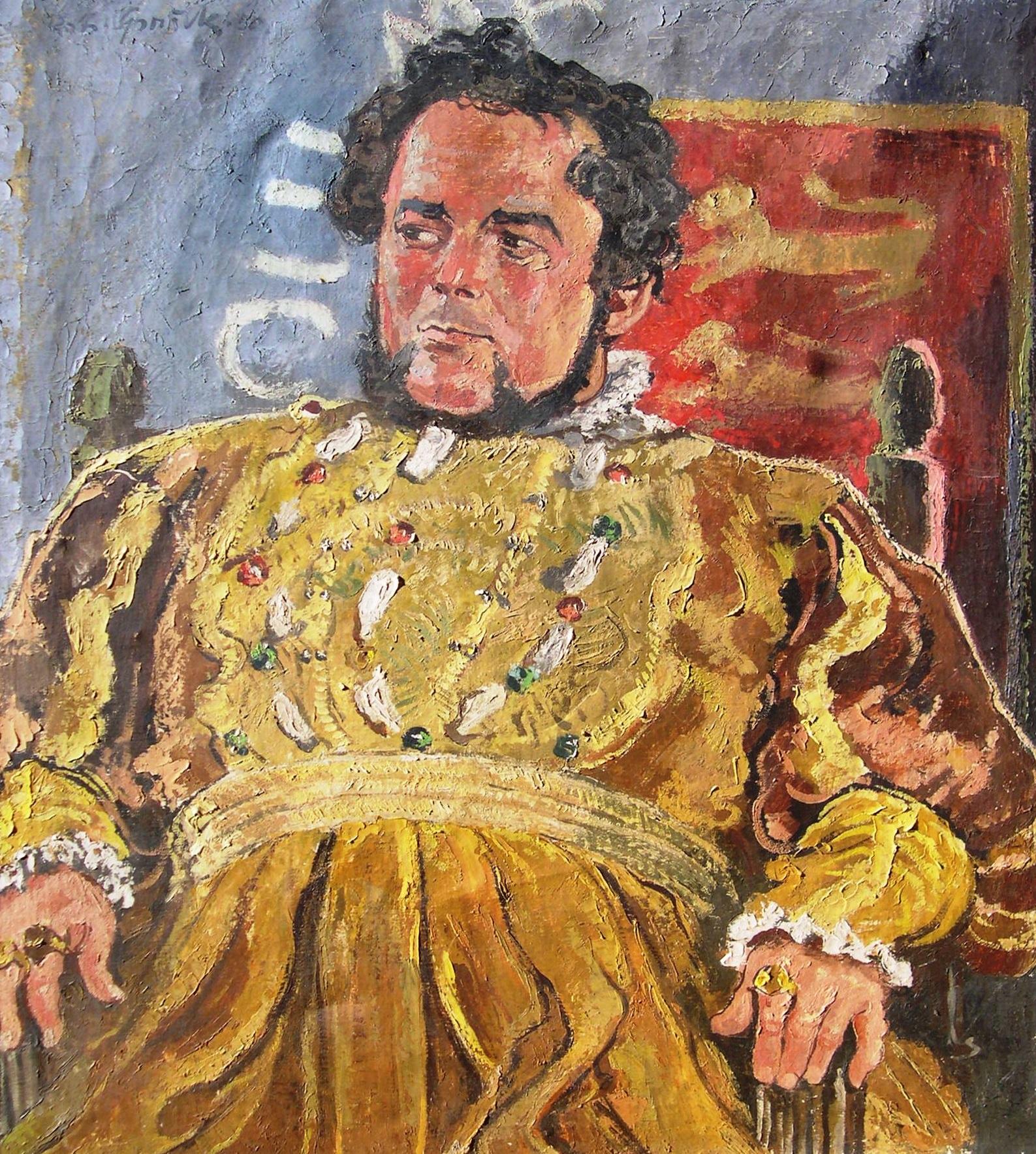 Richard Sprick: wohl Porträt Heinrich Georges in der Rolle von Shakespeares König Heinrich VIII. (Galeriebild groß)