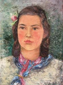 Käthe Schmitz-Imhoff: Porträt einer jungen braunhaarigen Frau