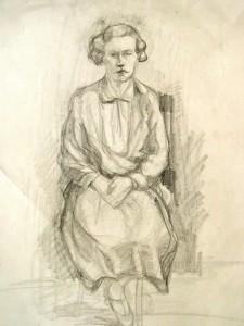 Maria del Pilar Prinzessin von Bayern: Auf einem Stuhl sitzende Frau
