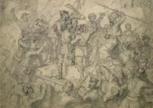 Unbekannter Künstler: Schlachtengetümmel (Galerie)