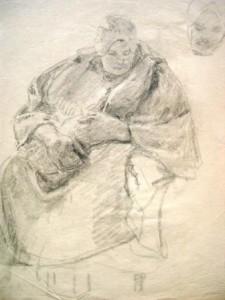 Maria del Pilar Prinzessin von Bayern: Wohl Darstellung einer sitzenden Holländerin (Galerie)
