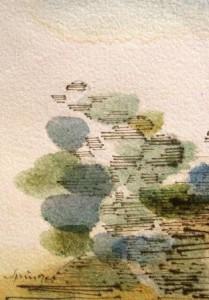 Ferdinand Springer: Imaginäre Landschaft (Provence) 22. Februar 1982 (Galerie)