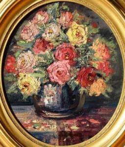 Adolf Hacker: Stillleben mit einem Rosenstrauß (Galerie)