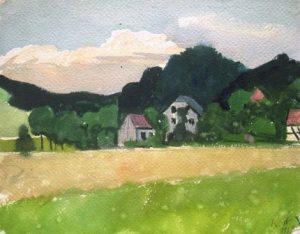 Karl Steffin: Dorf im Südwesten (Galerie)
