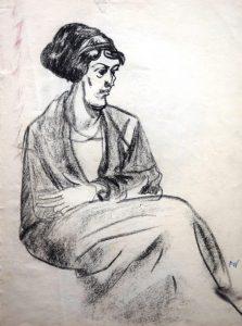 Paula Wimmer: Sitzende Frau