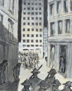 """Arpad Schmidhammer: """"Amerikanischer Ausmarsch oder Die japanische Gefahr […]"""" (Galerie)"""