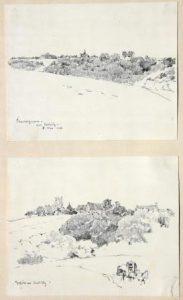 """Albert Reich: """"Cuvergnon / von Antilly"""" und """"Gehöft vor Antilly"""" (Galerie)"""