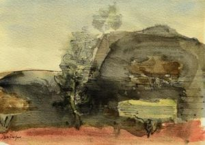 Ferdinand Springer: Imaginäre Landschaft mit Bäumen (Provence) - (Galerie)