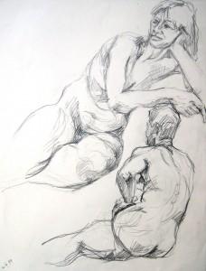 lubomyr-mudretzkyj-zwei-lagernde-weibliche-akte