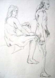 lubomyr-mudretzkyj-sitzender-weiblicher-und-stehender-männlicher-akt-galerie
