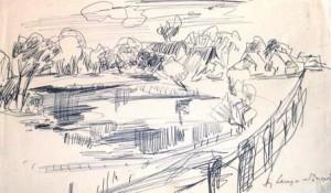august-lange-brock-wohl-norddeutsche-doerfliche-landschaft-galerie