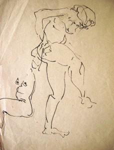 kurt-ruebner-zugeschrieben-beidseitige-zeichnung