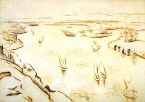 unbekannt-fischerboote-auf-einem-fluss-galerie