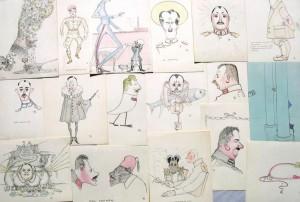unbekannter-kuenstler-neunzehn-karikaturen