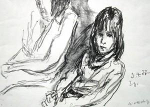 Wolfgang von Websky: Sitzendes Mädchen und zweite Person im Hintergrund