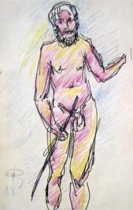 rudolf-scheibe-stehender-männlicher-akt-galerie