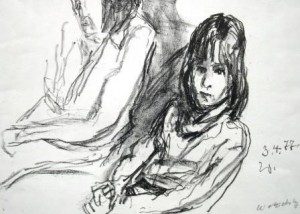 Wolfgang von Websky: Sitzendes Mädchen und zweite Person im Hintergrund Galerie