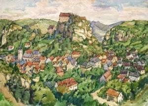 Walter Buhe: Blick auf Pottenstein (Galerie)