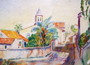 Hugo Wallenius: Strassenansicht in Recife