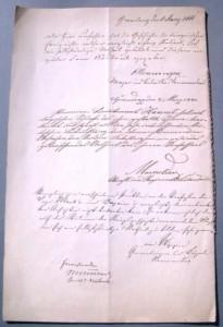 Dokument aus dem Infanterie-Regiment Graf Dönhoff (7. Ostpreußisches) (Galerie)