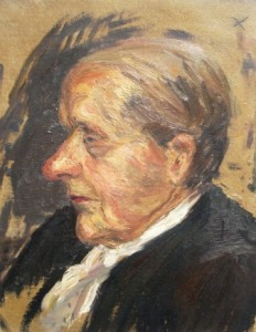 Arnold Hilmer: Seitliches Profil einer älteren Frau (Galerie)