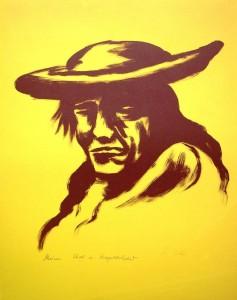Ludwig Luis Neu: Kopf eines Indios