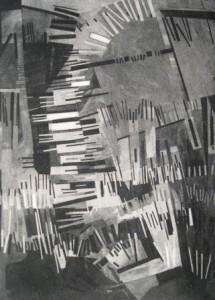 Ingo Kraft: Abstrakt konstruktive Komposition aus Balken und Linien (Galerie)