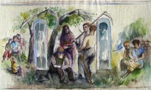 Will Sohl (zugeschrieben): Vorarbeit für ein Triptychon (Galerie)