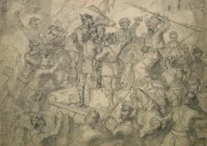 Unbekannter Künstler: Schlachtengetümmel