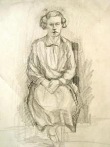 Maria del Pilar Prinzessin von Bayern: Auf einem Stuhl sitzende Frau (Galerie)