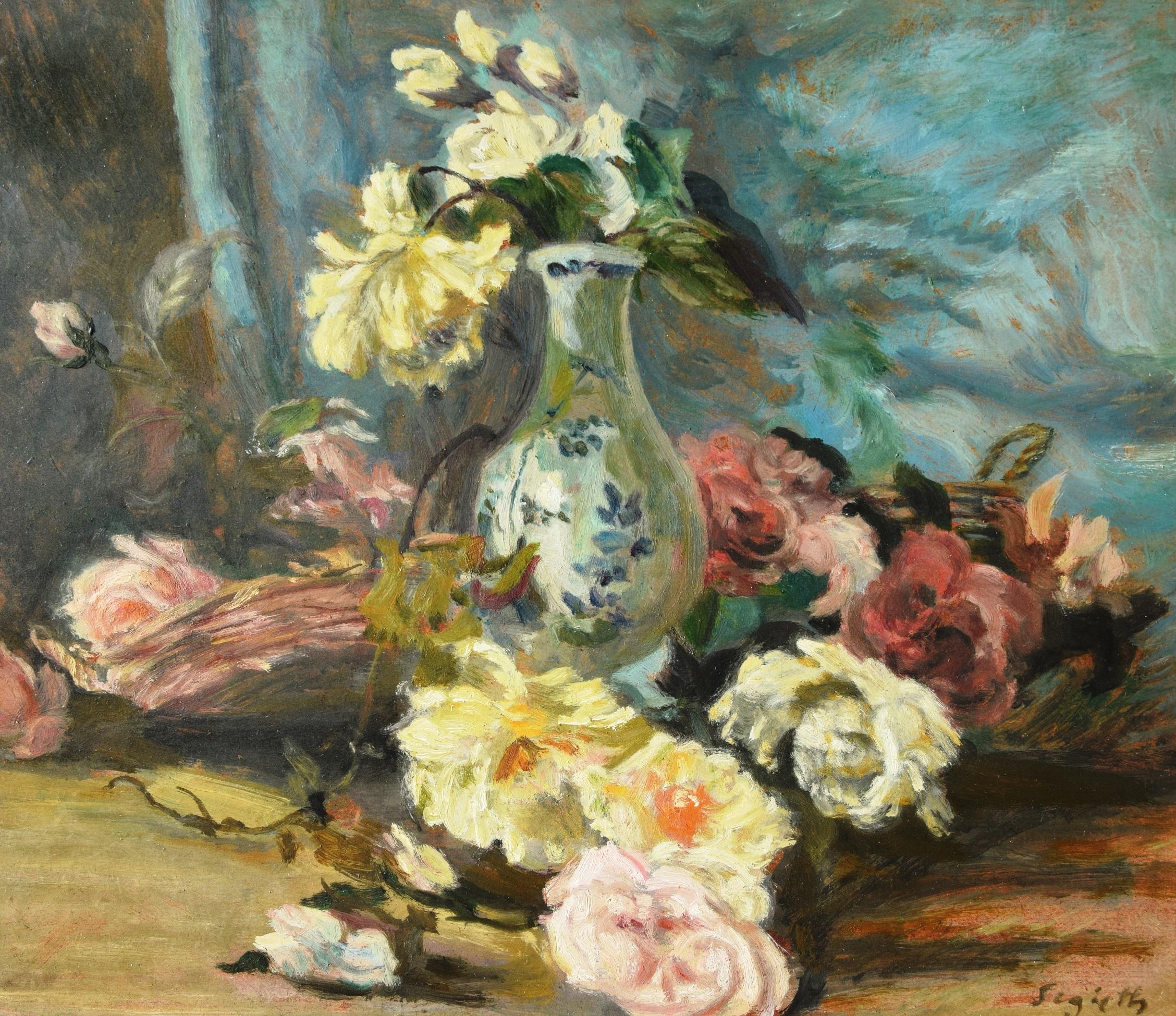 Paul Segieth: Stillleben mit Rosen und Vase (Großbild)