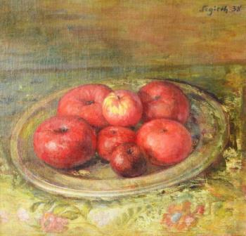 Paul Segieth: Stillleben mit einer Schale Äpfel auf einem Tisch (Galerie)