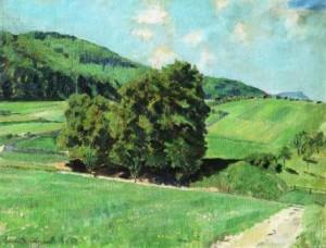 Karl Schröder-Tapiau: Sommerlandschaft (in der Schwäbischen Alb) (Galerie)