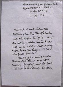 Ferdinand Springer: Autograph
