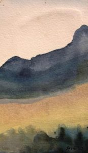 Ferdinand Springer: Imaginäre Landschaft (Provence) 1.1.1987 (Galerie)