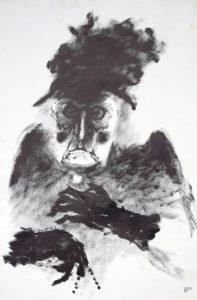 Helmut Diekmann: Darstellung einer alten Frau bzw. einer älteren Witwe