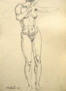 Hans Häusle: Stehender weiblicher Akt (Galerie)