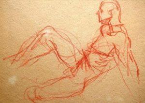 Wilhelm von Hillern-Flinsch: Männliche Aktstudie (Galerie)