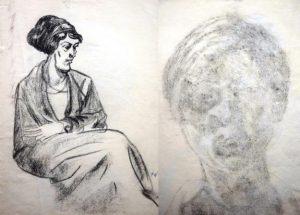 Paula Wimmer: Sitzende Frau (Galerie)